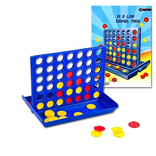 Pup Go Connect 4 Spiel - Vier in Einer Reihe Line 4 Spielspaß Set - Reise Tragbar Praktische Größe - Klassische Lustige Pädagogische Familienspiele für Kinder und Erwachsene