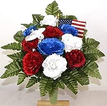 Patriotic Cemetery Flower Mausoleum Arrangement