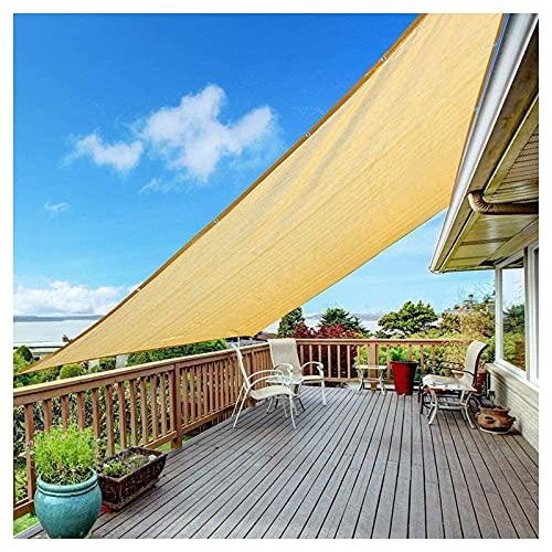 LAIDEPA Malla Sombra Protector Solar del 90% Soportar Vientos Fuertes Telas para Toldos Vallas Automóvil Pérgolas, con Agujeros, HDPE, Tamaño Personalizable,Beige,3 * 3m(9.84 * 9.84ft)