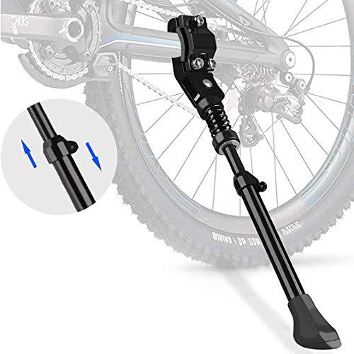 DETENO Fahrradständer für 16-26 Zoll, Höhenverstellbarer Fahrrad Seitenständer mit Anti-Rutsch Gummifuß,Aluminiunlegierung Fahrradständer für Mountainbike, Rennrad, Fahrräder und Klapprad