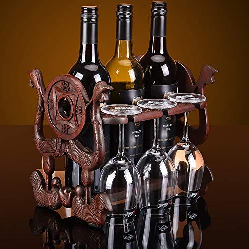 WFBD-CN Estante de vino de soporte de vino creativo de estilo chino de forma de palisandro estante de botellas de la sala de estar de la barra de vino gabinete de vino