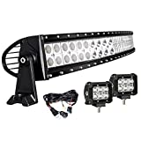 EasyNew 32' Inch 180W 10-30V Curved LED Work Light Bar IP68 Waterproof...
