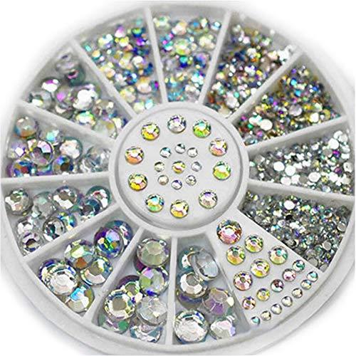 1 Box Nagelsteine Kristall Ab Farben Mischgröße Acryl Design Nägel Kunst Strass Dekoration Maniküre Strass für Nagel -Multicolor