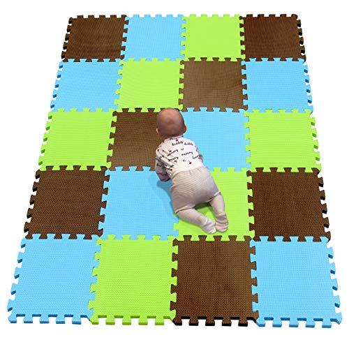 YIMINYUER Alfombra puzles para Bebe Puzzle Infantil Suelo Piezas Goma eva ninos de Suelo Grande Infantiles marrón Azul Pastoverde R06R07R15G301020