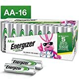 Energizer Rechargeable AA Batteries (16-Pack) Pre-Charged, 1.2V NIMH 2,000 mAh Rechargeable Batteries, 16...
