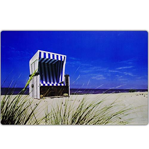 alles-meine.de GmbH Unterlage - Maritim & Strand - Strandkorb - 44 cm * 29 cm - als Platzdeckchen / Tischunterlage / Malunterlage / Knetunterlage / Eßunterlage / Platzmatte / Pla..