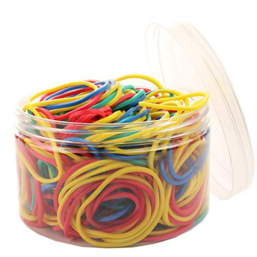 AMUU Rubber Bands 300pcs 4 Colours Small Rubber Bands for Office School Home size16 Elastic Hair Band