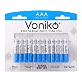VONIKO - Premium Grade AAA Batteries - 24 Pack - Alkaline Triple A Battery - Ultra Long-Lasting, Leakproof 1.5v Batteries - 10-Year Shelf Life