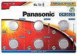 Panasonic CR2025 Lithium-Knopfzelle 3 V, 165 mAh, 6 Stück