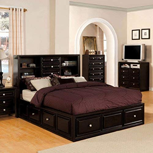 247SHOPATHOME platform-beds, King, Espresso