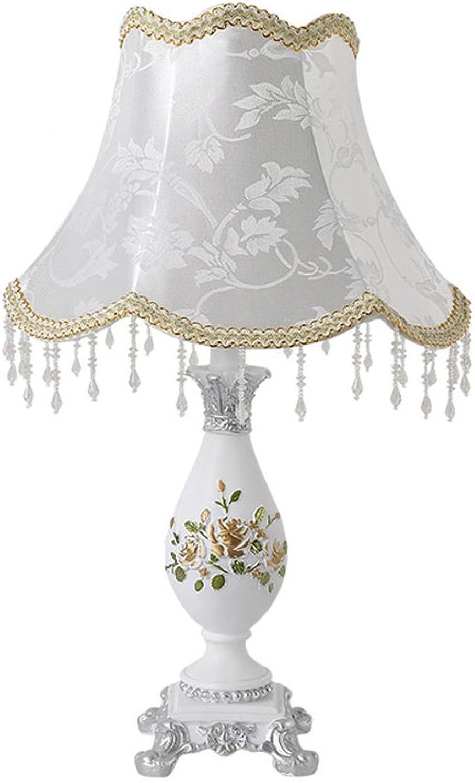 Europäische Rosa geschnitzt Lampe Wohnzimmer Schlafzimmer retro Hochzeit kreative warmes Tuch Nachttischlampe B01MCQQ0OF     Elegant Und Würdevoll