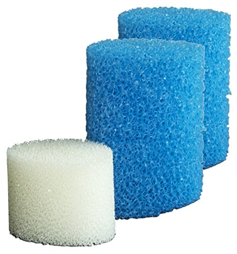 SICCE Shark ADV Replacement Sponge, freshwater and saltwater, for submerged use|2x10ppi & 1x20ppi