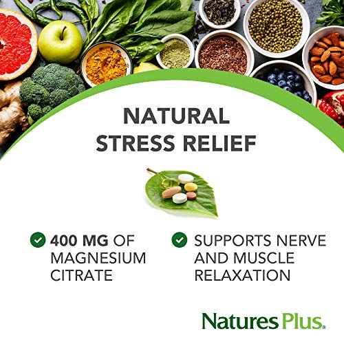 NaturesPlus Kalmassure Magnesium Powder - 400 mg, Vegan Powder - Orange Flavor - Natural Stress Relief, Supports Nerve and Muscle Relaxation - Non-GMO, Vegetarian, Gluten-Free - 60 Servings