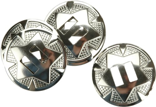 """Tandy Leather Star Conchos 1-1/4"""" (3.2 cm) Nickel Plated 10/pk 1320-02"""