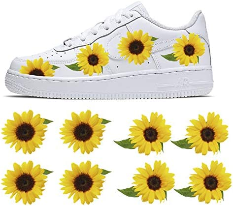 Lemonadeus Sunflower Decal Patches for Custom Nike Air Force 1/Vans/Stickers Kit for DIY Hand Painted Sneaker Idea Design Your Own Shoes (Sunflower ...
