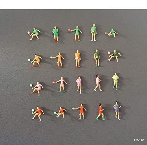 Archifreunde 7 x Modell Sportler Sport Figuren joggen tennisspielen Läufer Tennisspieler 1:75/1:87 Modelleisenbahn Spur 00 / SpurH0
