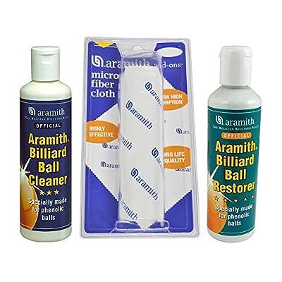 Aramith Pool Ball Cleaner and Towel Kit