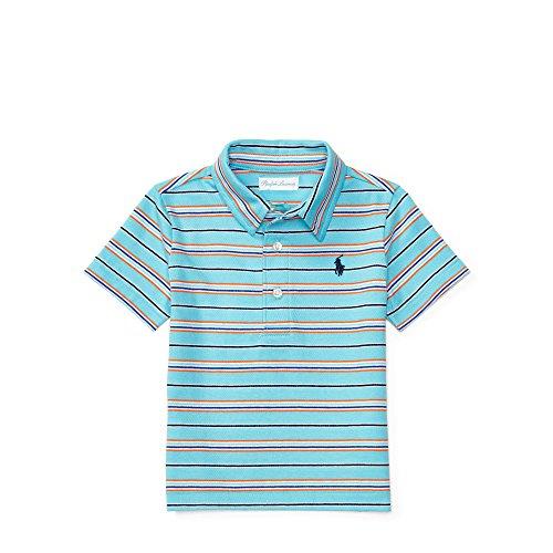 Ralph Lauren Striped Cotton Jersey Polo, Baby Boys