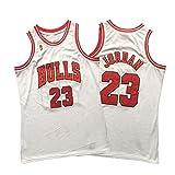 XXOO Jordan 96-97 Jersey, 23# Bulls - Camiseta de baloncesto con logo de campeonatos, estilo retro bordado #23-XL