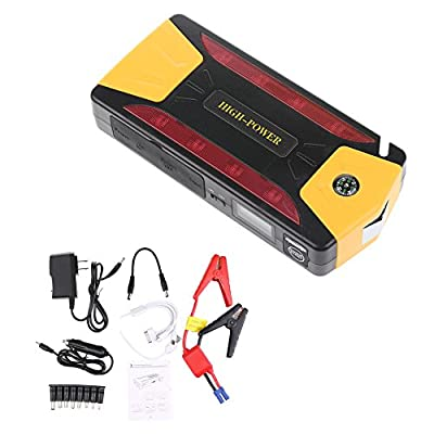 12000 mAh Portable Car Jump Starter and Portable Charger Power Bank with USB Power Bank and LED Flashlight for Truck Motorcycle Boat Automotive
