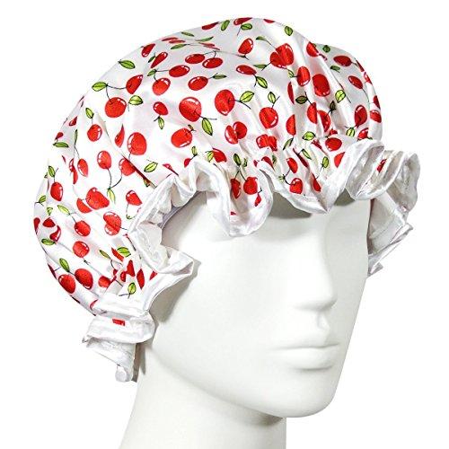 Kella Milla Trendy Satin Shower Cap - Cherries by Kella Milla