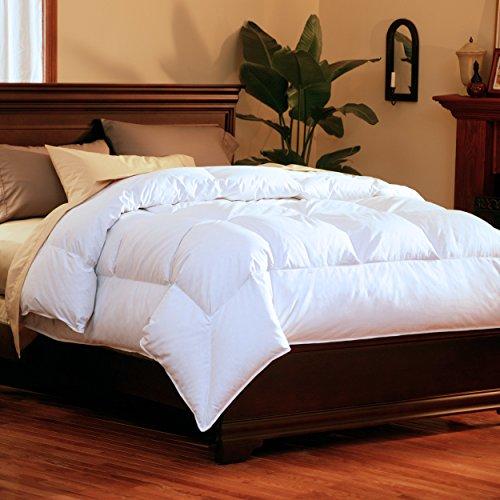 GoLinens Pacific Coast SuperLoft Down Comforter with 100% Cotton Barrier...