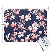 マウスパッド かわいい ピンク 桜 紺色 背景 高級 ノート パソコン マウス パッド 柔らかい ゲーミング よく 滑る 便利 静音 携帯 手首 楽