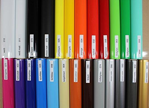Finest Folia (2,48€/Meter) Aufkleber Streifen Stripes Dekor Zierleisten Zierstreifen Folie 30 Farben Farbwahl KX005 (011 Weiß Matt)