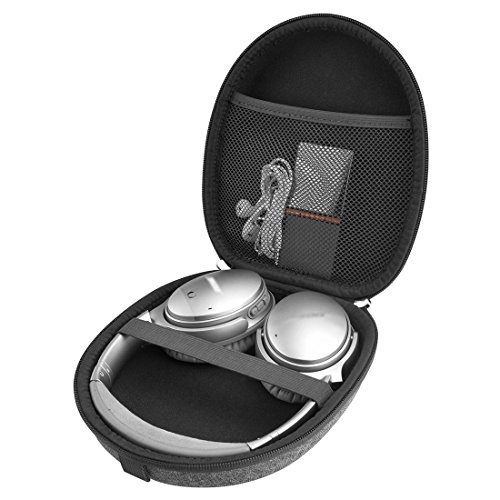 Linkidea Case for Bose QuietComfort QC35, QC25, QC15, AE2w, AE2i, AE2, SoundLink, SoundTrue Around-Ear Headphones II, Sony XB950B1, XB950N1, XB950BT, Hard Shell Carrying Case/Travel Bag (LightGray)
