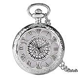 Reloj de bolsillo antiguo Kuroshitsuji negro con diseño má