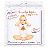 Baby Belly Stickers   First Year Holiday Memory Milestones   Premium Sticker Kit   Share Photos With Family & Friends - Stickers for 12 Yearly Holidays for Boy or Girl