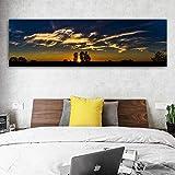 ganlanshu Pintura sin Marco Cielo Nube montaña Paisaje Lienzo Pintura Pared Arte Imagen para Sala decoración Arte Cartel ZGQ5547 20X60 cm