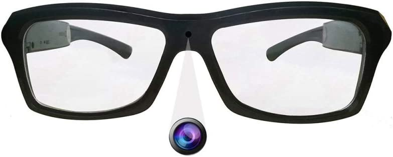 Spy Camera Glasses HD 1080P Hidden Camera Glasses with Video Recorder Anti-Blue Light Lens OTG Function for Business and Conference Black