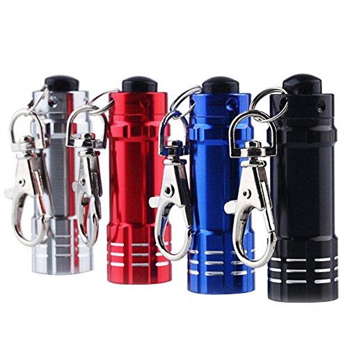 Beetest Mini lampe de poche Portable 4pcs Torch Light Lanterna Mini avec crochet aluminium LED
