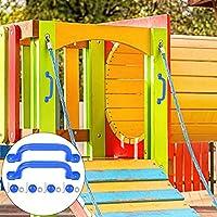 フィンガーグリップキッズプレイグラウンドハンドル、安全で頑丈な滑り止めプラスチックプレイグラウンドセーフティハンドル、クライミングフレーム&プレイハウス用(blue)