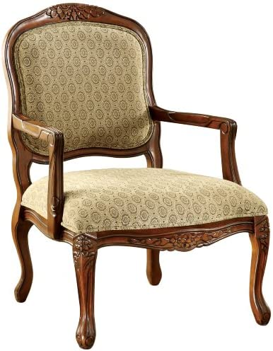 Best Furniture of America Sonoma English Style Armchair, Antique Oak