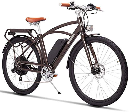 LJ Adult 26-Inch City Electric Bike Retro Design with Pedal...