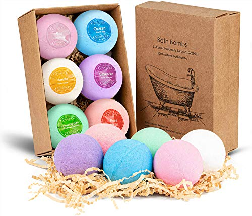 Bombas de baño De espuma de lujo echas a mano para hacer regalos y hidratar la piel de larga duracion - regalo ideal para niños y parejas - sales de baño - bolas de baño-