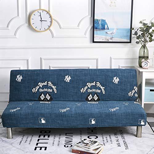 SSDLRSF Fundas sofá Fundas de sofá Cama con Estampado elástico de 150-185 cm sin reposabrazos Funda de sofá Ajustada Funda elástica Funiture Fundas Flexibles para sofá Toalla