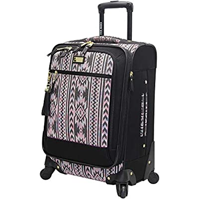 """Steve Madden Luggage Carry On 20"""" Expandable Softside Suitcase With Spinner Wheels"""