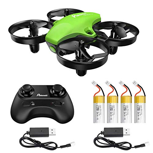 Potensic Upgraded A20 Mini Drone with 4 Batteries and 2 Charging Cables, Easy to Fly Even to Kids and Beginner, Having Fun for mor Time