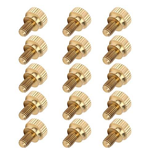 Mothinessto Tornillo de cabeza moleteada resistente y duradero, M5, accesorios industriales, para camas y fijaciones de construcción para muebles para fiestas (M5 x 8 mm)