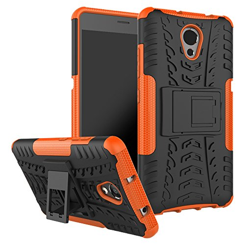 TiHen Funda Lenovo Vibe P2 360 Grados Protective con Pantalla de Vidrio Templado. Caso Carcasa Case Cover Skin móviles telefonía Carcasas Fundas para Lenovo Vibe P2 - Naranja