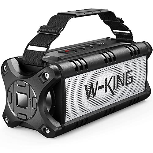 W-KING 50W(70W Gipfel) Bluetooth Lautsprecher IPX6 Wasserdicht, 24 Stunden Laufzeit, 8000mAh Power Bank, 30 Meter Reichweite, Tragbare Bluetooth Speaker Box Lautsprecher Musikbox mit NFC TF-Karte