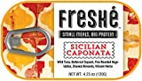Freshé Gourmet Canned Tuna (Sicilian Caponata, 10 pack of 4.25 oz. tin) Premium Sustainably Caught Canned Tuna that Makes a Perfect High Protein Backpacking Food