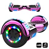 MARKBOARD Patinete Eléctrico 6.5' Hoverboard con Luces LED, Flash Ruedas, Cinco Estrellas con Bluetooth, Scooter Monopatín Auto Equilibrio