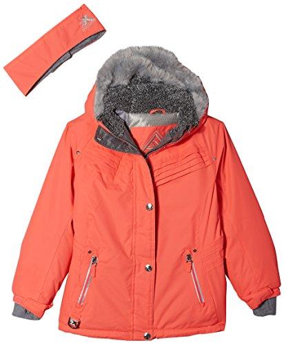ZeroXposur Girls' Big Laurel Snowboard Jacket, Salmon, X Large