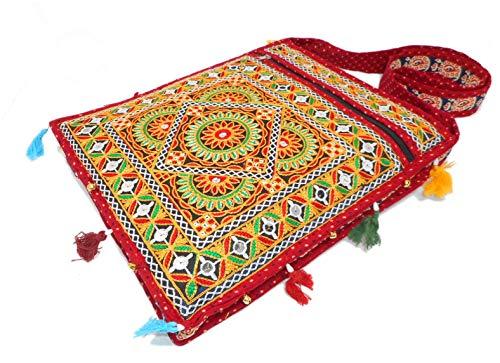 India Colors Bolso Cartera Portadocumentos Portafolios Carpeta Bolsa Partituras Regalo. Hecho a mano en India. (Corinto)