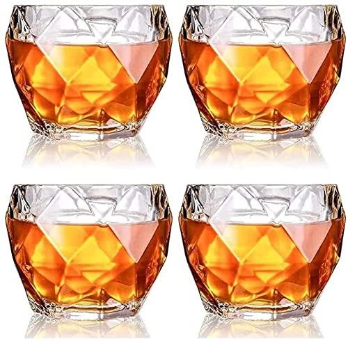 Casual Conjunto 4 Vidrio Taza Cerveza 330ML Whisky Cocktail Bourbon Water Juice Beber Home Kitchen Bar Hotel 9.5X8CM MUMUJIN