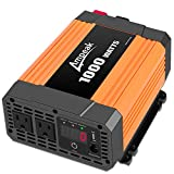 Ampeak 1000W Power Inverter Truck/RV Inverter 12V DC to 110V AC Converter with Dual AC Outlets 2.1A USB Modified Sine Wave Inverter